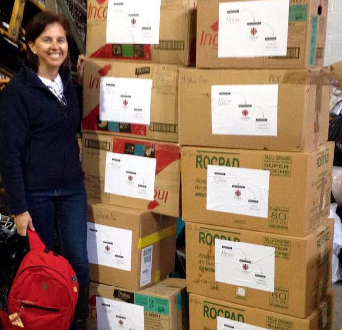 Pañales para un asilo de Perú