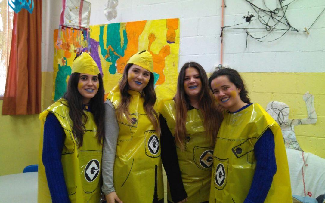 Nuestras voluntarias celebraron el carnaval con los niños de los Servicios Sociales
