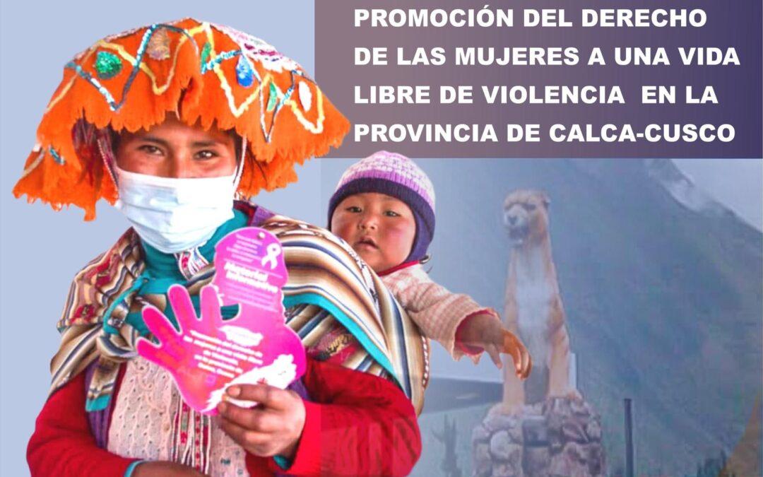 La Fundación Albihar incide en la lucha contra la violencia de género en Calca, Perú.