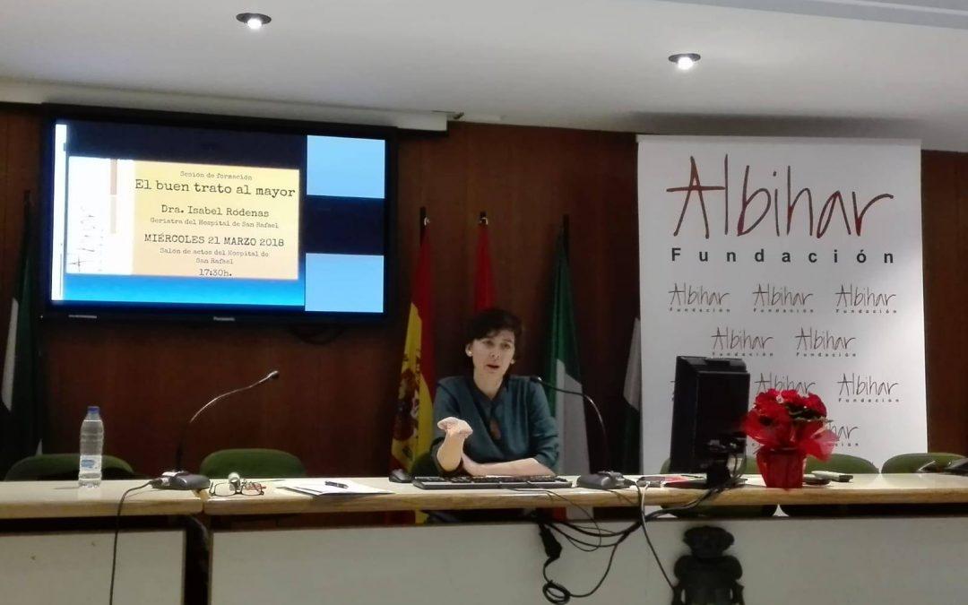 """""""EL BUEN TRATO AL MAYOR"""", por la Dra. Isabel Ródenas"""